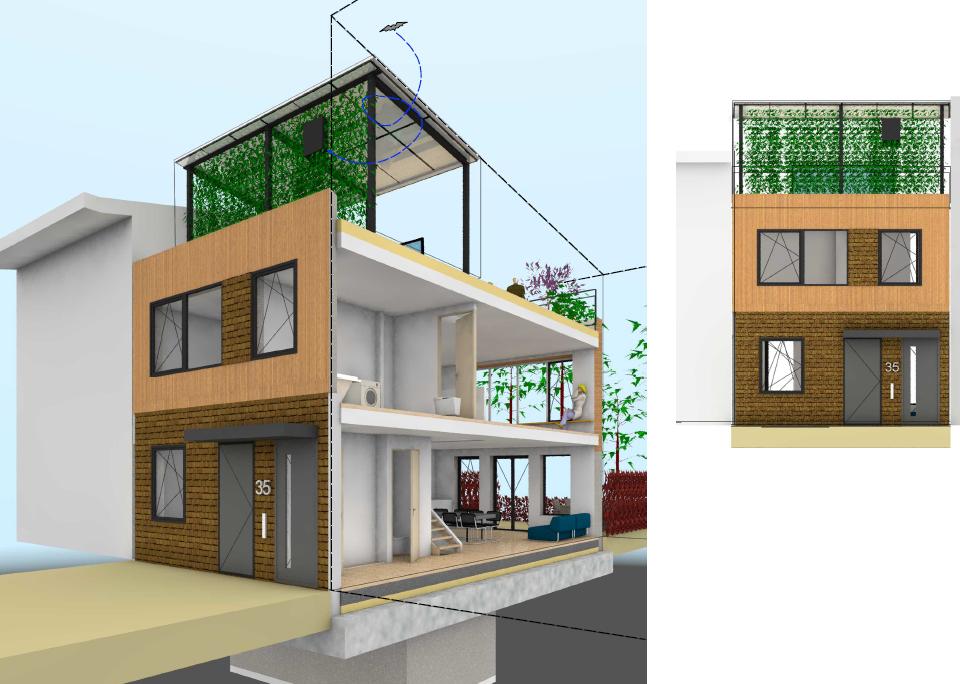 schapenatjesduin kijkduin den haag kavels vrije zelfbouw architect HRH architecten geschakeld pv panelen kelder